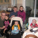 Sergio and Tadhg, daddy, his uncle Darach and his cousins Aoileann & Fiona O'Connor